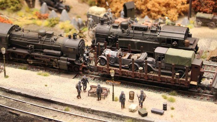 impressive diorama of german railway station 46 pics. Black Bedroom Furniture Sets. Home Design Ideas