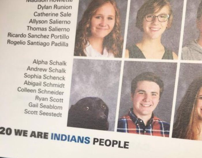 Service Dog Gets Added To The School Yearbook (3 pics)