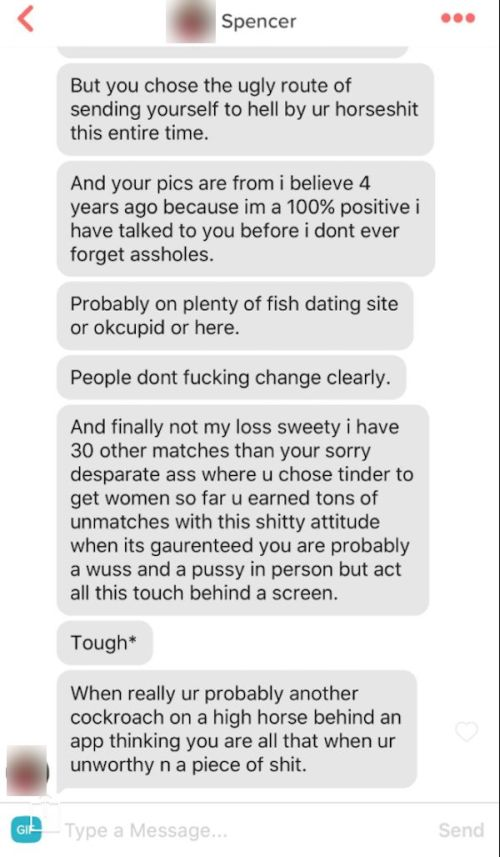 Tinder Match Goes Off On Guy For A Very Specific Reason (5 pics)