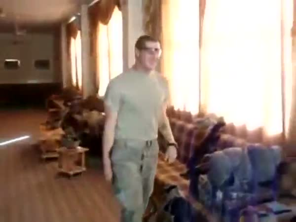 Soldiers Flash Bang Their Friend While He's Sitting On The Toilet