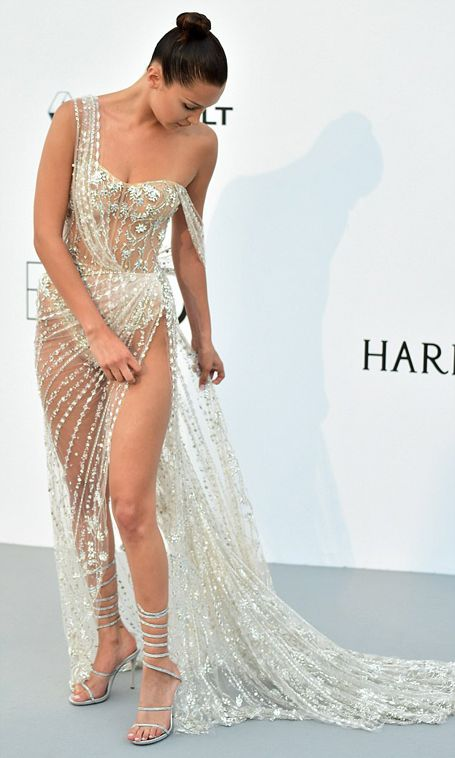 Bella Hadid Turned Heads With Her Dress At The Cannes Festival (5 pics)