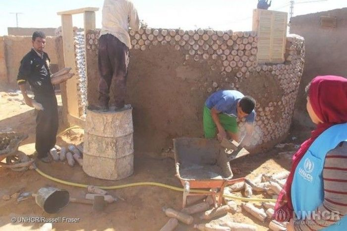 Guy Builds Houses Out Of Plastic Bottles In Algeria (8 pics)