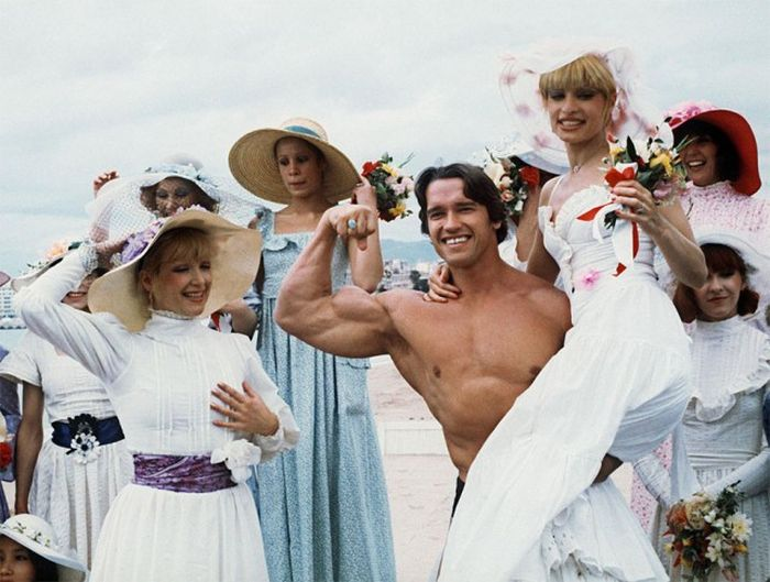 Arnold Schwarzenegger In Cannes Back In The Day And Today (4 pics)