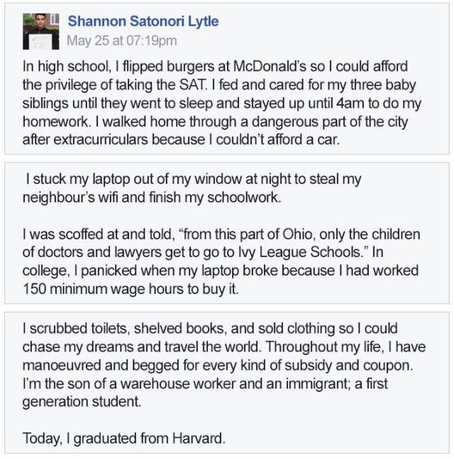 Guy's Long Road To Harvard Graduation Is The Epitome Of Inspiration (6 pics)