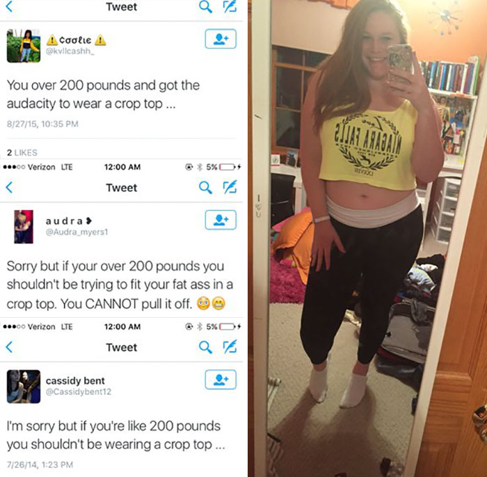 Girl Has Perfect Response For What Women Over 200 Lbs Shouldn't Wear (5 pics)