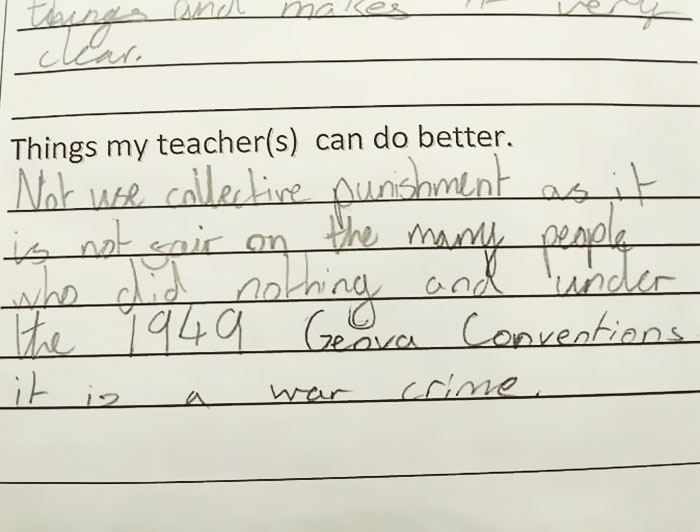 Young Girl's Response To Teacher's Punishment Is Going Viral (11 pics)