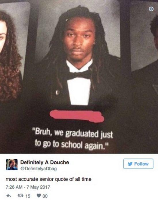 The Funniest Senior Quotes Of 2017 (18 pics)