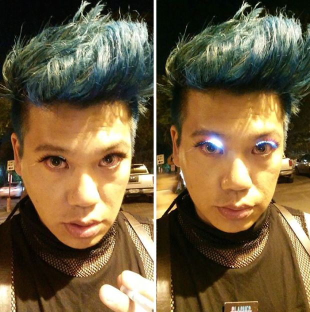 Color-Changing LED Eyelashes Are The Next Big Thing (3 pics)