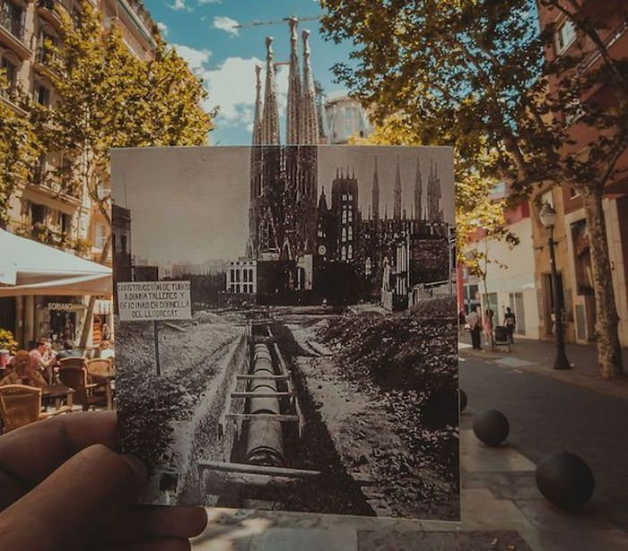Guy Matches Old Photos To Modern Places During Trip To Europe (25 pics)