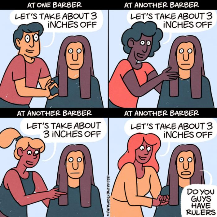 If You've Ever Gotten A Haircut These Comics Are For You (13 pics)