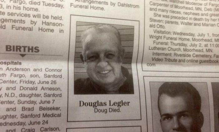Hilarious Obituaries That Prove Comedy Survives Beyond The Grave (18 pics)