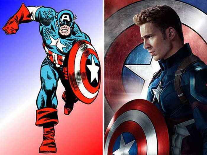 What Comic Characters Look Like Compared To Their Movie Counterparts (30 pics)