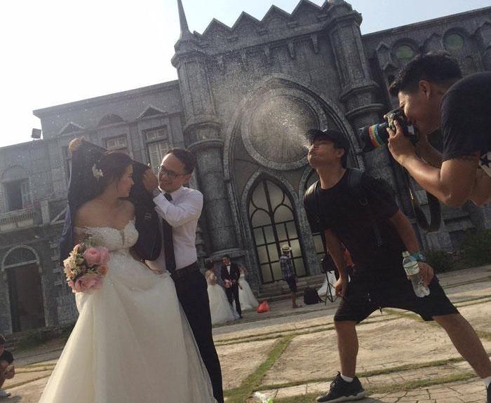 Fancy Wedding Photo Gets Exposed (2 pics)