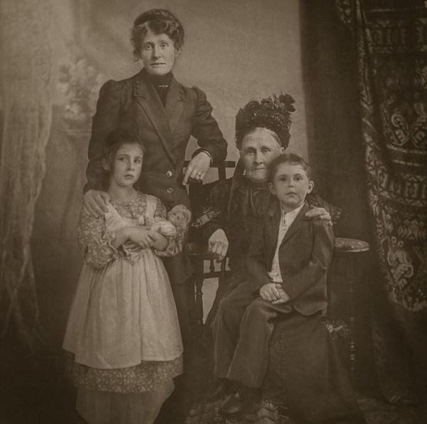 Quaint Family Photograph Exposed (6 pics)
