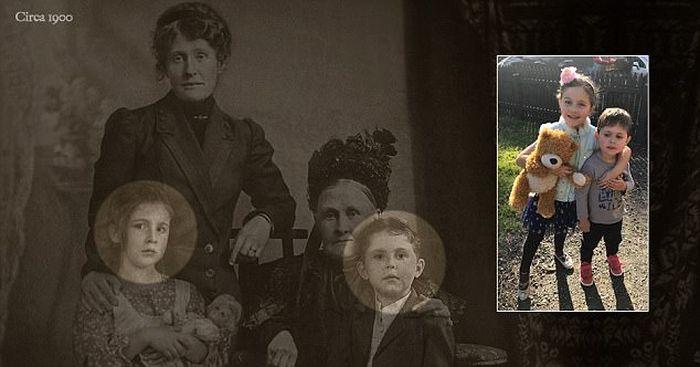 Quaint Family Photograph Exposed (6 pics)