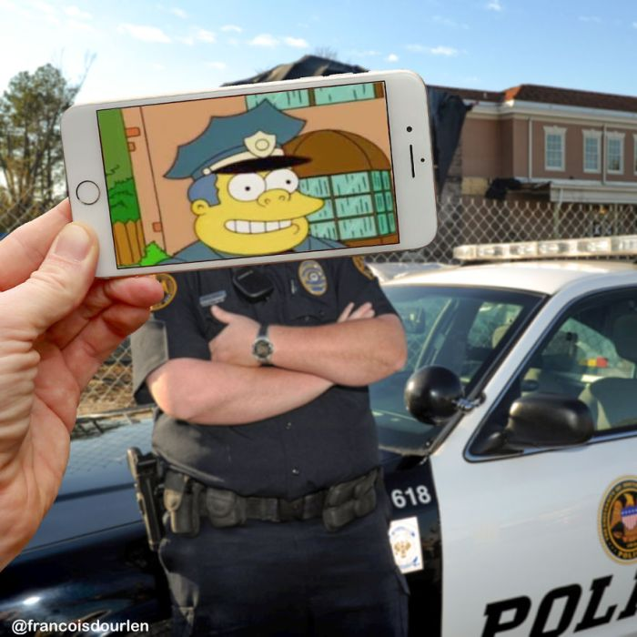 Guy Uses iPhone To Insert Simpsons Characters Into Real Life Situations (17 pics)