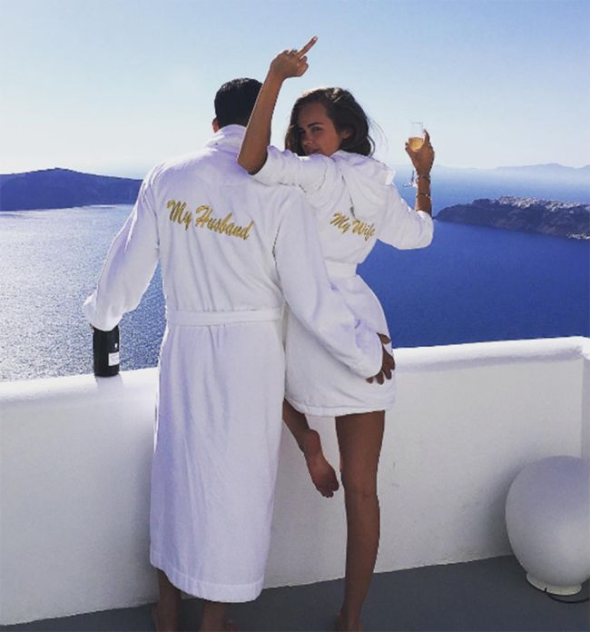 Playboy Model Xenia Dali Celebrates Wedding Anniversary Alone (15 pics)