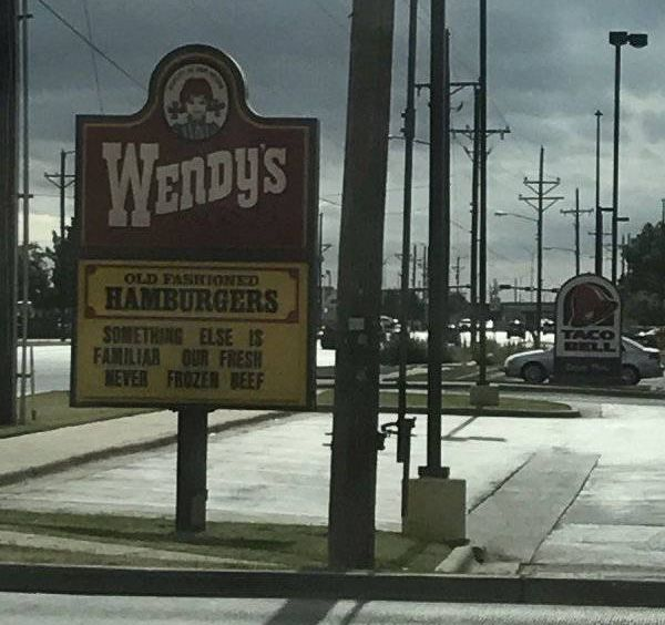 Wendy's Has A Very Strong Sign Game (10 pics)