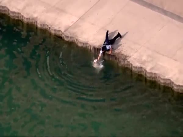 Hero Cop Rescues Dog From Drowning