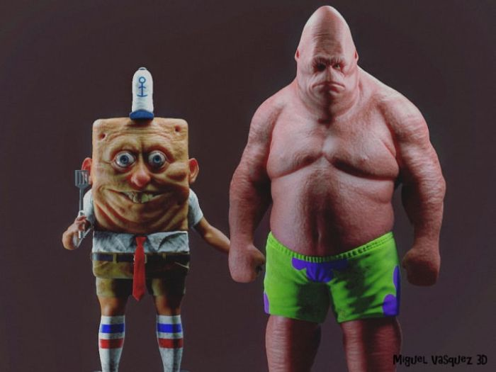Artist Imagines What SpongeBob Would Look Like As A Real-Life Human (5 pics)