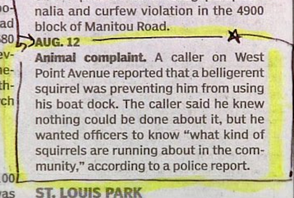 Great And Hilarious Moments From Police Blotter History (25 pics)