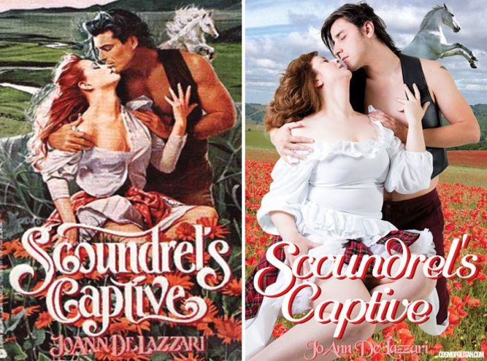 Real Pics Of Real People Recreating Romance Novel Covers (9 pics)