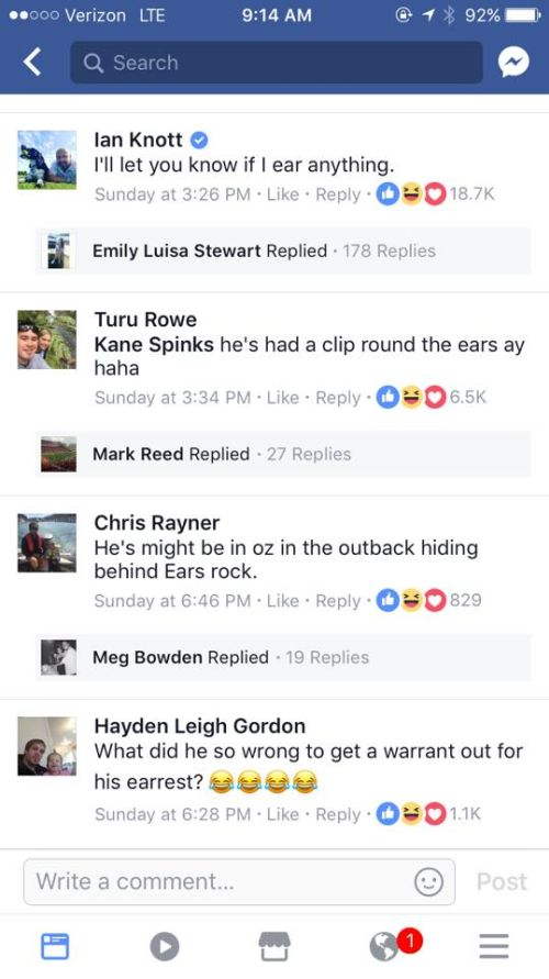 Man Wanted By Police Gets Roasted On Facebook (5 pics)