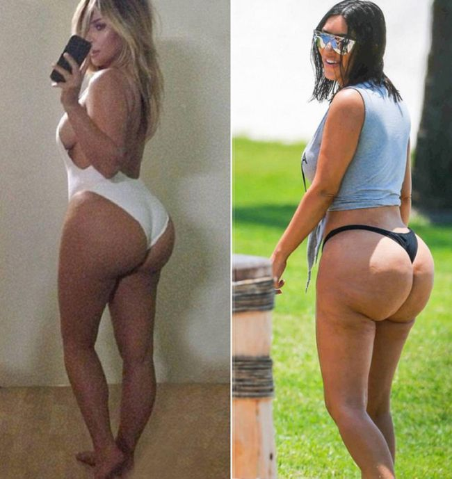 Kim Kardashian Claims These Pictures Were Photoshopped (4 pics)