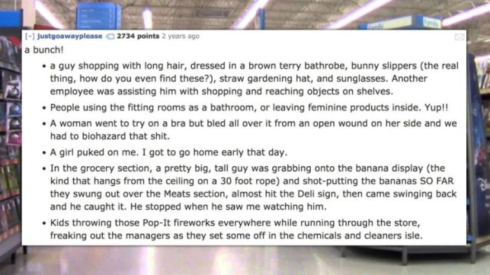 Walmart Employees Reveal The Strangest Things They've Seen At Work (14 pics)