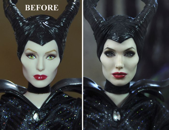 Artist Repaints Cheap Dolls To Make Them Look More Realistic (25 pics)