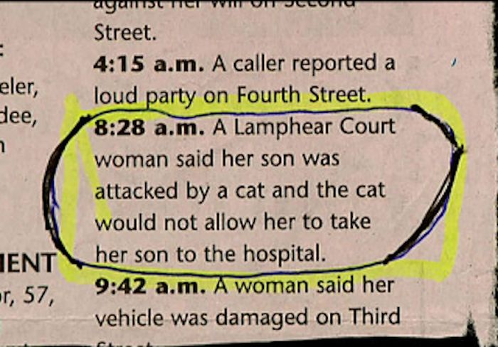 Hilarious Police Blotter Excerpts That Will Crack You Up (16 pics)