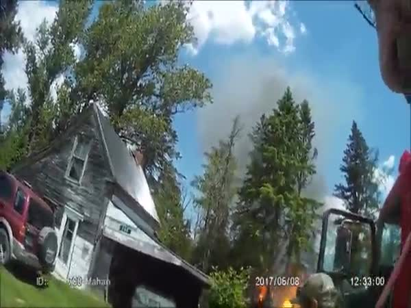 Crazy Footage Of A Propane Tank Explosion That Throws Firefighters On Their Backs