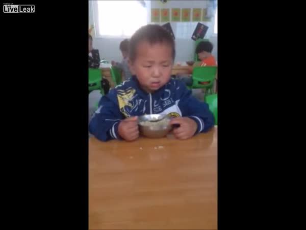 Boy Is Struggling With Sleep