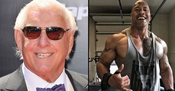 Ric Flair Posts Then And Now Photo With The Rock (2 pics)