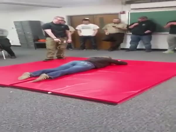 Girl Accidentally Farts During Taser Training