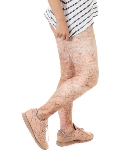 Hairy Leggings That Take Not Shaving To The Next Level (3 pics)