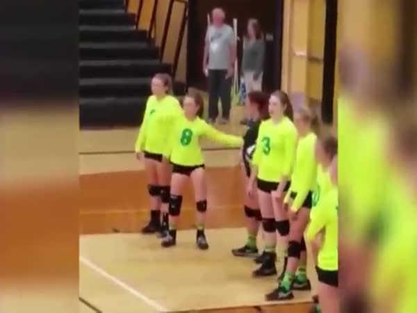Girl Dancing At Volleyball Practice Has An Unexpected Ending