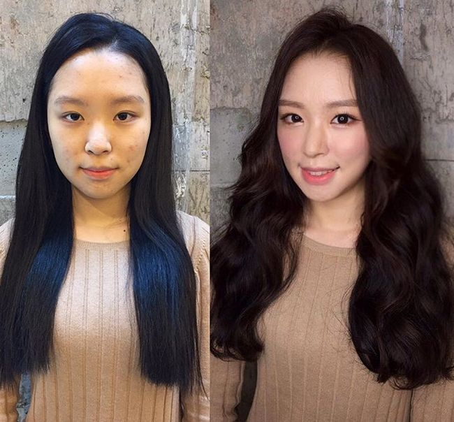 Before And After Photos Show Women With And Without Makeup (16 pics)