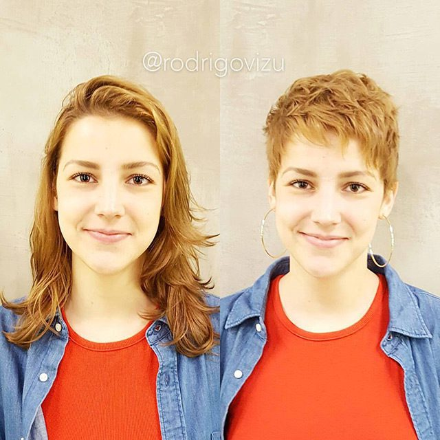 Girls With Short Haircuts Before And After (20 pics)