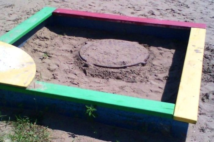Only In Russia Would You Find This In A Sandbox (3 pics)