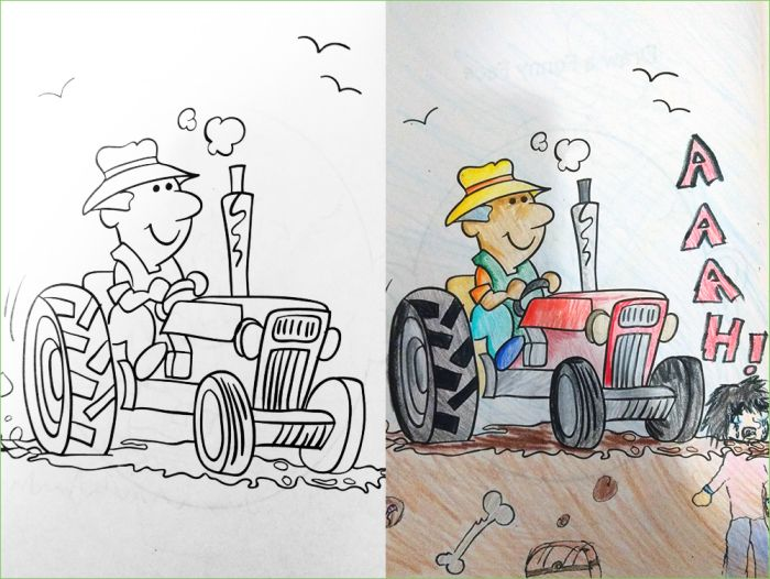 Examples Of Adults Messing Up Coloring Books (18 pics)