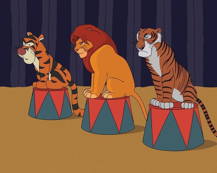 Illustrator Uses A Modern Twist To Update Disney Movies (10 pics)