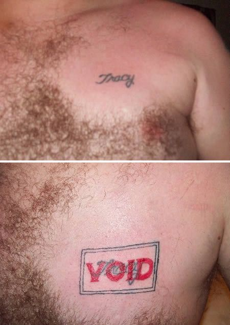 Exes Who Moved On Using Hilarious Tattoo Coverups (9 pics)