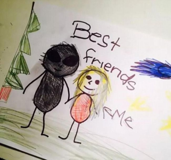 Creepy Drawings From Kids That Will Make You Laugh Then Cry (11 pics)