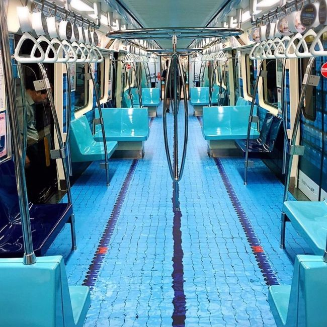 Taipei MRT Gets A New Look For Universiade (10 pics)