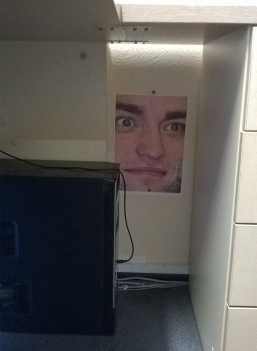 Employee Gets Trolled With Pictures Of Robert Pattinson (10 pics)