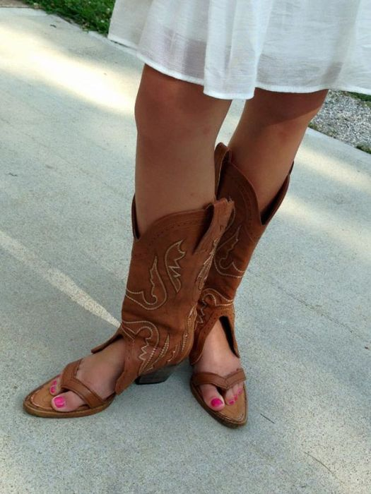 Cowboy Boot Sandals Are A Real Thing (14 pics)