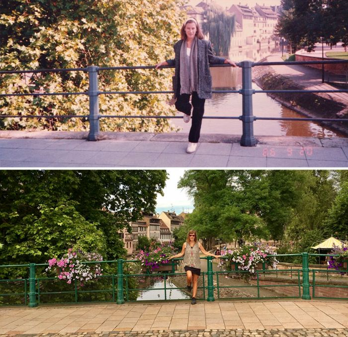 Woman Travels To The Same Locations 30 Years Later (9 pics)