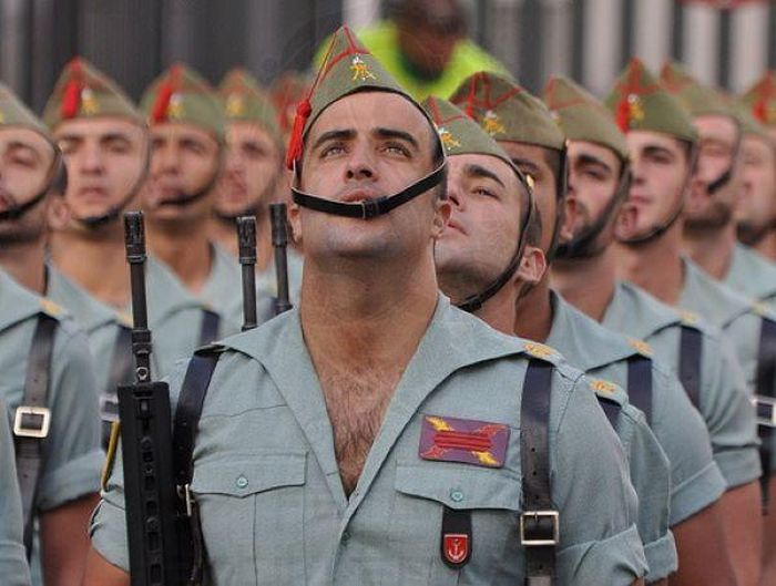 Spanish Legionnaires Outfits Come Under Fire (7 pics)