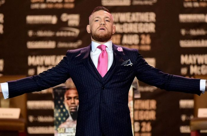 Fan Gets Conor McGregor's Suit Tattooed On His Arm (2 pics)
